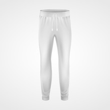 White Jogging Pants, Joggers Sportswear Mockup