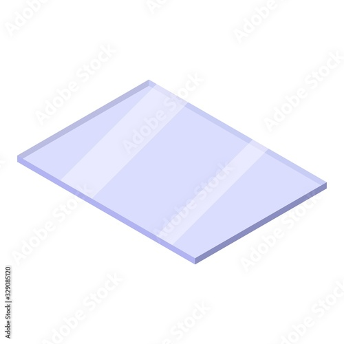 Obraz Window glass icon. Isometric of window glass vector icon for web design isolated on white background - fototapety do salonu