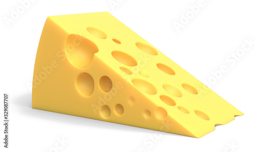 Foto piece of cheese isolated on white background