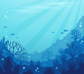 Fototapeta na wymiar Ocean underwater theme background 8