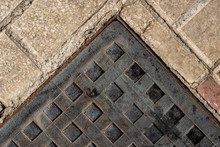Square Manhole Cover On The Si...