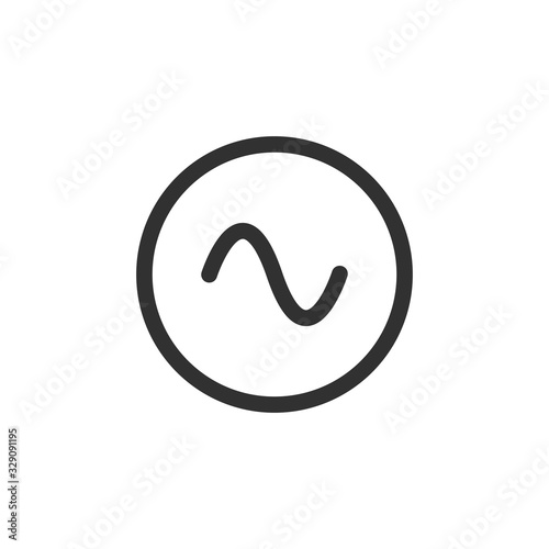 Photo Symbol of AC source, ac sinusoid icon