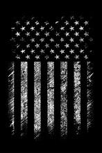 Grunge Usa Flag Vector Design.