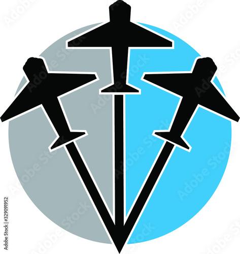 plane logo Canvas Print