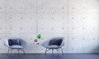 Leinwandbild Motiv The interior design of loft living room and lounge space hall area and concrete wall texture background