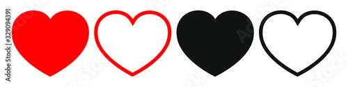 Fototapeta heart icon design element. Logo element illustration. Love symbol icon. Icon of the heart. One of a set of linear web icons. obraz