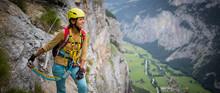 Pretty, Female Climber On A Vi...