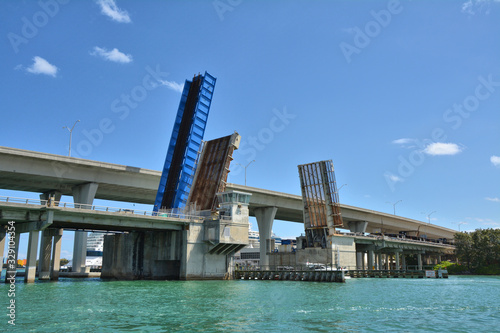 Bascule bridge in Port of Miami, Florida Wallpaper Mural