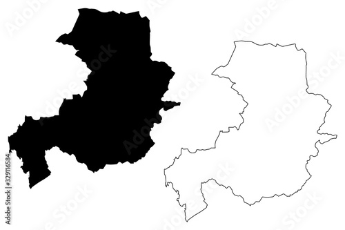Photo Aix-en-Provence City (French Republic, France) map vector illustration, scribble