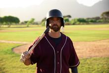 Baseball Player Looking At Cam...