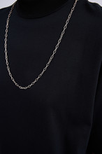 Black Blank T-shirt With Chain...