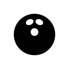 Vector Black Bowling Ball Icon...