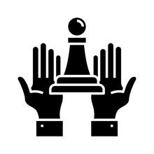 Trump Black Icon, Concept Illu...
