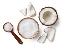 Bowl And Spoon Of Coconut Oil ...