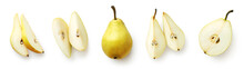 Set Of Fresh Pear Isolated On ...