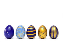 Five Easter Eggs Trendy Colore...