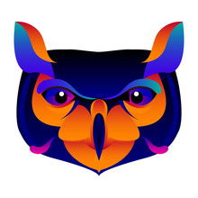 Abstract Owl Head Isolated On ...