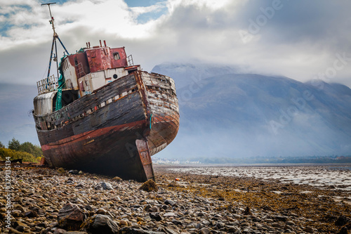 Photo Corpach shipwreck at Loch Linnhe