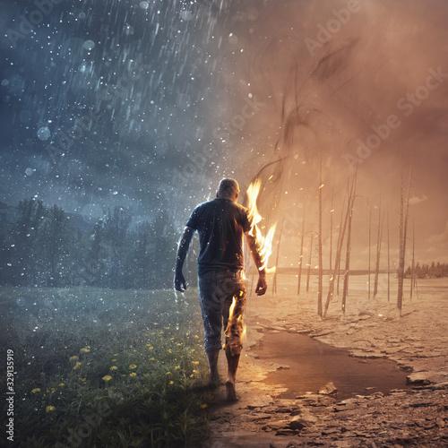 Obraz In fire and rain - fototapety do salonu