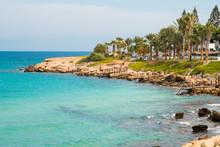 Coast Line On Cyprus With Medi...