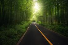 Beautiful Asphalt Road With Tu...