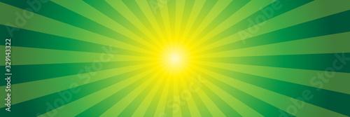 Green light beams