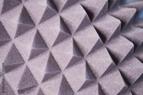 Vászonkép The pattern of the soundproof panel of polyurethane foam