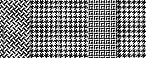 Houndstooth seamless pattern Canvas Print