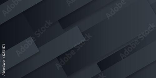 Valokuva Abstract background black gradient geometric shape decoration