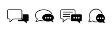 Chat Icons Vector Isolated Ele...