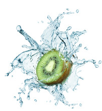 Kiwi Jumping Into Water With A Splash
