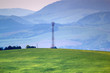 canvas print picture - Cell tower in mountains. Western Beskids. Near Litmanova, Slovakia.