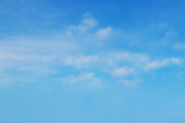Blue sky with white fuzzy clouds, background for design_
