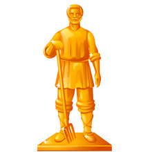 Golden Statue In The Shape Of ...