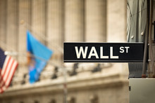 New York Stock Exchange Sign O...