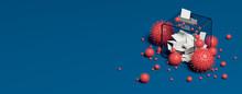 Ballot Box And Viruses 3D Rend...