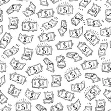 Money Vector Seamless Pattern....