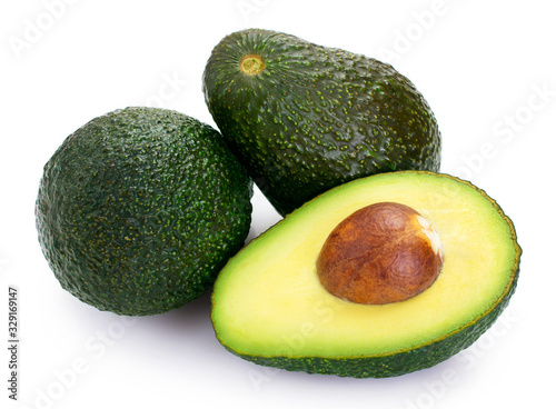 Cuadros en Lienzo Fresh avocado on white background