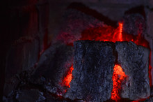 Background With Glowing Coal F...