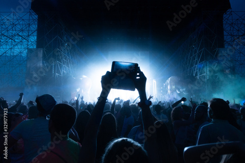 Photo Crowd of fans at concert