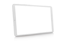 White Tablet, Isolated On Whit...