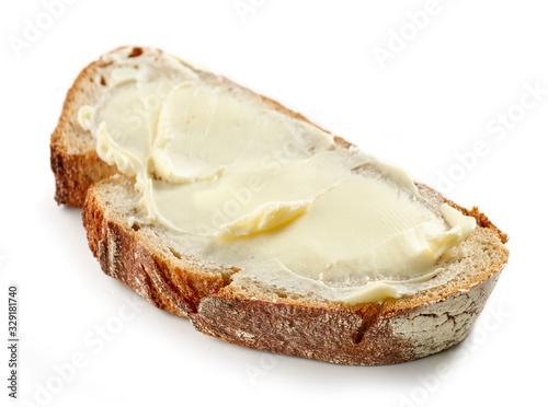Cuadros en Lienzo slice of bread with butter