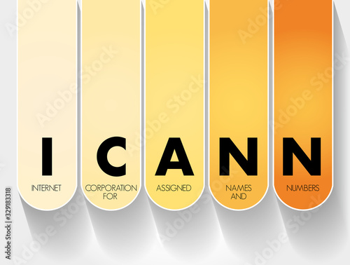 ICANN - Internet Corporation for Assigned Names and Numbers acronym, technology Wallpaper Mural