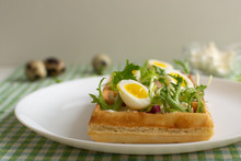 Belgian Waffles With Boiled Qu...