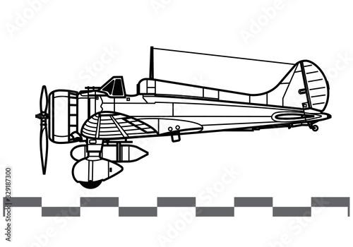 Mitsubishi A5M Claude Wallpaper Mural