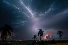 Lightning Creeps Across The Sk...