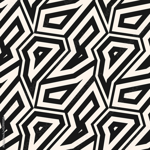 Black and white geometric seamless pattern Canvas Print