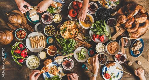 Fotografering Turkish breakfast table