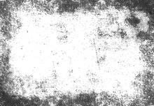 Grunge Halftone Print Frame, V...