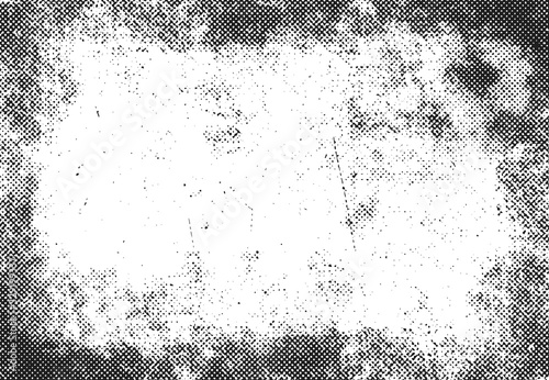 Obraz na plátne grunge halftone print frame, vector background